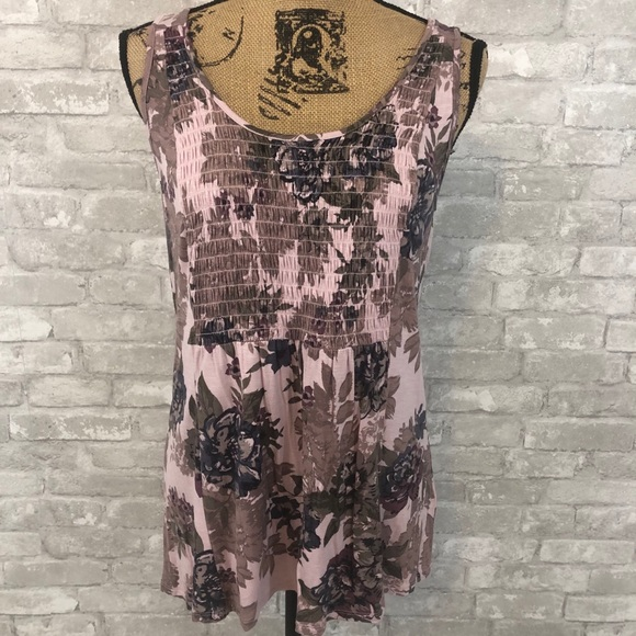 Maurices Smocked Floral Tank Top